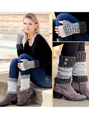 ANNIE'S SIGNATURE DESIGNS: Rustic Mitts and Boot Toppers