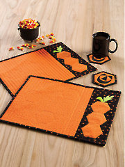 Pumpkin Hex Place Mat & Coaster Set Pattern