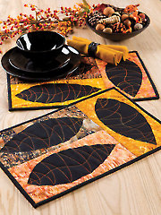 Leaf Study Place Mats Pattern