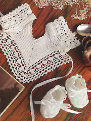 Keepsake Slippers & Bib Crochet Pattern