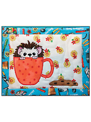Cookie Time Hedgehog Mug Rug Embroidery CD