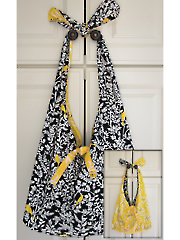 Knot Handle Reversible Tote Sewing Pattern