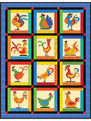 Funky Chickens Quilt Pattern