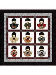 Kokeshi Quilt Pattern