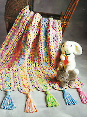 Bright Ribbons Mile-A-Minute Afghan