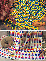 Graphic Afghans: Lattice Weave & Arrowheads
