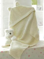 Hooded Blanket Knit Pattern