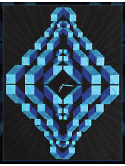 Deep Dimension Cubes Quilt Pattern