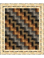 Strip-Easy Rail Fence Quilt Pattern