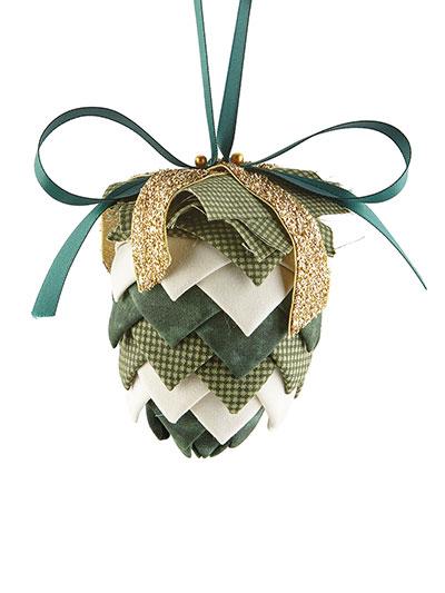 Pinecone No-Sew Ornament Green Kit