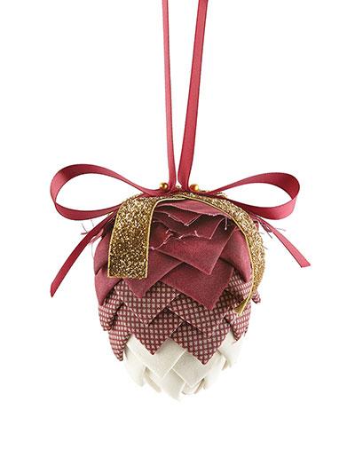 Pinecone No-Sew Ornament Burgundy Kit