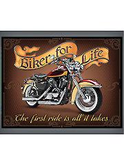 "Biker for Life Panel 44"" x 36"""