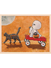 A Spooky Ride Cross Stitch Pattern