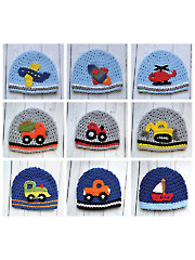 All Boy Applique Set With Basic Hat