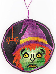 Circle Witch Ornament Cross Stitch Pattern