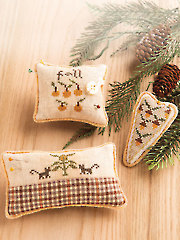 Fall Pincushion Trio Cross Stitch Pattern