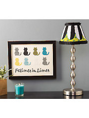 Felines in Lines Cross Stitch Pattern