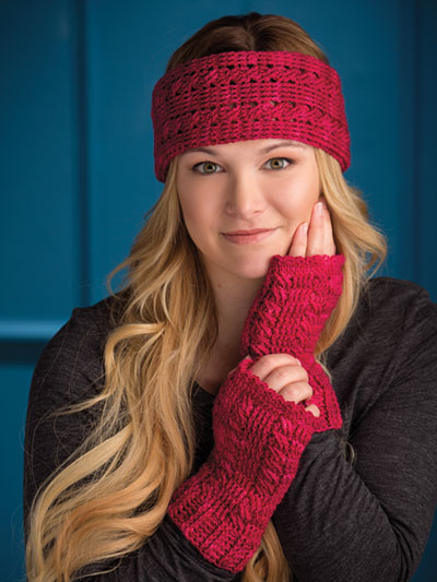 One-Skein Headband & Mitts