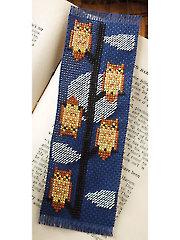 Owl Bookmark Cross Stitch Pattern
