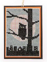Silhouette Ornament Pair Cross Stitch Pattern