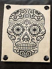 Sugar Skull Pillow Cross Stitch Pattern