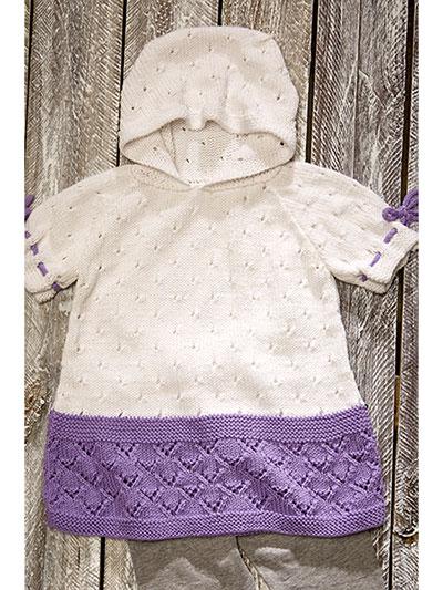 Sweet Lilac Hoodie Knit Pattern