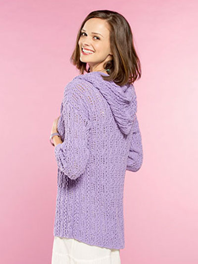 Twirl and Twist Hooded Cardigan Knit Pattern