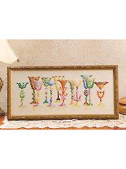 Vintage Glassware Cross Stitch Pattern