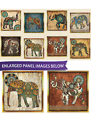 "Elephant Picture Patches Panel 44"" x 24"""
