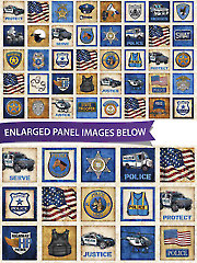 "Protect and Serve Patches Panel 44"" x 24"""