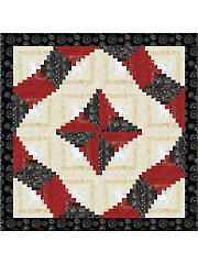 Twisting Log Cabin Quilt Pattern