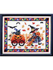 Pumpkins on Parade Cross Stitch Kit