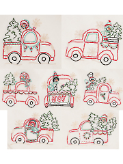Vintage Farm Gatherings Embroidery Pattern