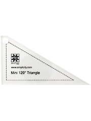 Jelly Roll Ruler- Mini 120 Degree Triangle