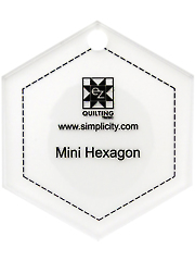 Jelly Roll Ruler - Mini Hexagon