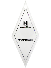 Jelly Roll Ruler - Mini 45 Degree Diamond