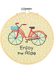 Bike Ride Embroidery Kit