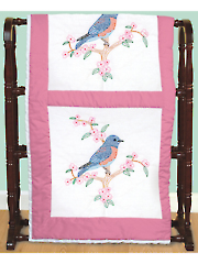 "Bluebird 18"" Prestamped Quilt Blocks"