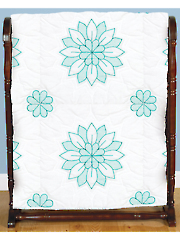 "Mandala Flowers 18"" Prestamped Quilt Blocks"