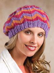 Zigzag Tam Knit Pattern