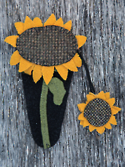Sunflower Scissors Quilt Pattern