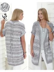 4454: Ladies Waistcoats Knit Pattern