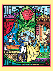 "Disney Beauty & the Beast Panel 36"" x 44"""