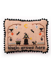 Witch's Garden Cross Stitch Pattern
