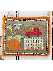 Pumpkin Harvest Cross Stitch Pattern