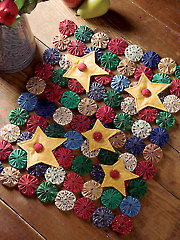 Yo-Yo Star Table Topper Pattern