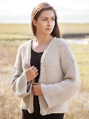 ANNIE'S SIGNATURE DESIGNS: Baywood Cardi Knit Pattern