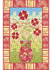 Bargello Flowers Quilt Pattern