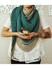 Zen Garden Shawl Knit Pattern