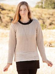 ANNIE'S SIGNATURE DESIGNS: Asti Sweater Knit Pattern